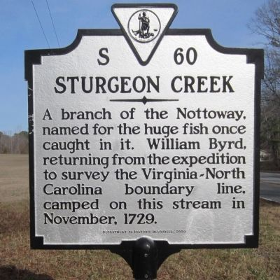 Sturgeon Creek Marker image. Click for full size.