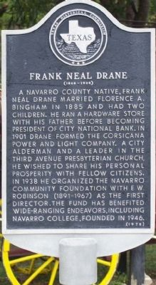 Frank Neal Drane Marker image. Click for full size.