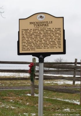 Snickersville Turnpike Marker image. Click for full size.