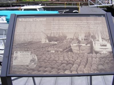 Whaling Capital Marker image. Click for full size.