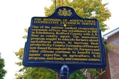 The Beginning of Agricultural Cooperative Extension Service Marker image. Click for full size.