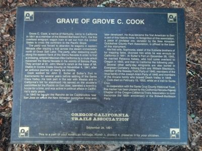 Grave of Grove C. Cook Marker image. Click for full size.
