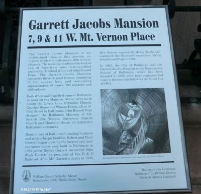 Garrett Jacobs Mansion Marker image. Click for full size.