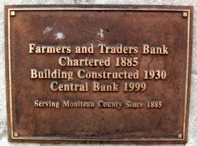 Farmers and Traders Bank Marker image. Click for full size.