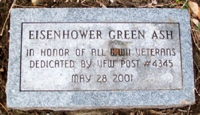 Eisenhower Green Ash Marker image. Click for full size.