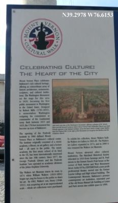 Mount Vernon Cultural Walk-Celebrating Culture Marker image. Click for full size.