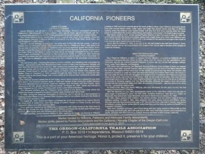 California Pioneers Marker image. Click for full size.