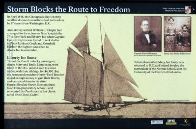 Storm Blocks the Route to Freedom Marker image. Click for full size.