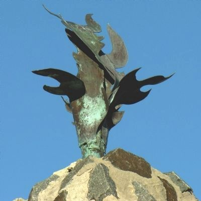 Flame atop the African American Monument of St. Mary's County image. Click for full size.