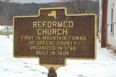 Reformed Church Marker image. Click for full size.