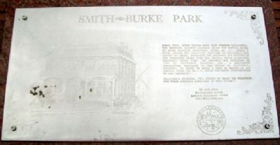 Smith - Burke Park Marker image. Click for full size.