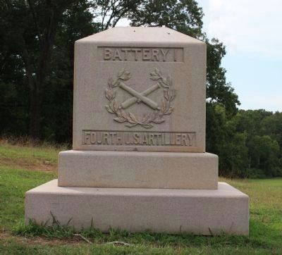 Battery I, Fourth U.S. Artillery Marker image. Click for full size.