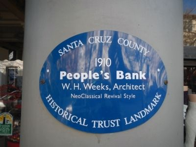 People's Bank Marker image. Click for full size.