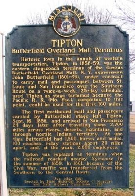 Tipton Marker (Front) image. Click for full size.