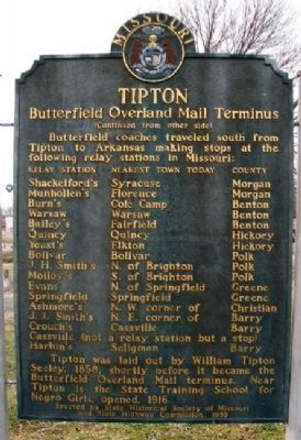 Tipton Marker (Back) image. Click for full size.