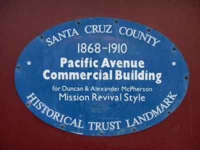 Pacific Avenue Commercial Building Marker image. Click for full size.