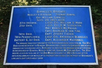 Sirwell's Brigade Marker image. Click for full size.