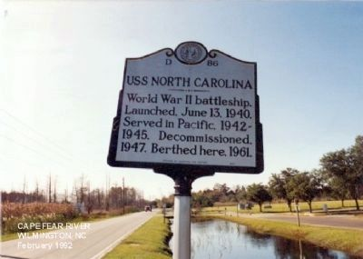 USS North Carolina Marker image. Click for full size.