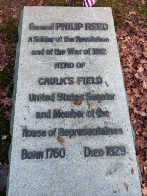 Stone slab on the grave of Philip Reed image. Click for full size.