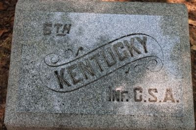 5th Kentucky Infantry Regiment (CSA) Marker image. Click for full size.