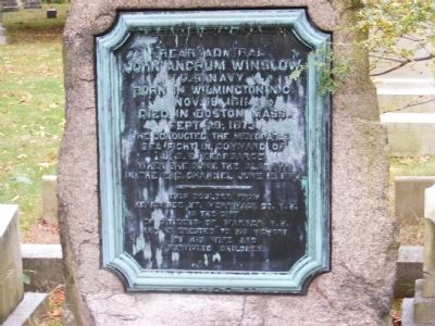 Rear Admiral John Ancrum Winslow Memorial Marker image. Click for full size.