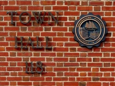 Chestertown Town Hall sign image. Click for full size.