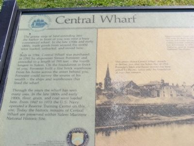 Central Wharf Marker image. Click for full size.