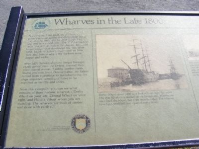 Wharves in the Late 1800s Marker image. Click for full size.