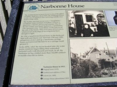 Narbonne House Marker image. Click for full size.