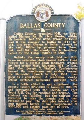 Dallas County Marker (front) image. Click for full size.