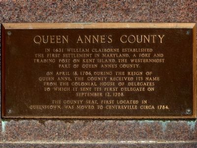 Queen Anne's County Marker image. Click for full size.