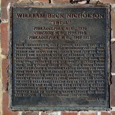 William Beck Nicholson Marker image. Click for full size.