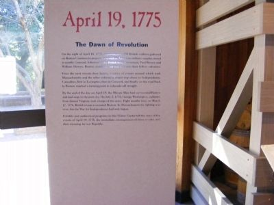 April 19, 1775-The Dawn of Revolution Marker image. Click for full size.