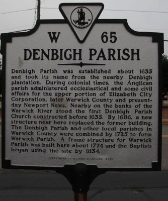 Denbigh Parish Marker image. Click for full size.