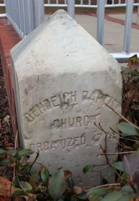 Denbigh Baptist Church Foundings Stone image. Click for full size.