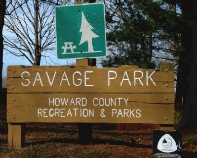 Savage Park Sign image. Click for full size.