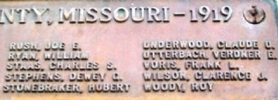 Polk County, Mo,, WWI Honored Dead image. Click for full size.