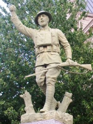 Polk County, Missouri, World War Memorial Statue image. Click for full size.
