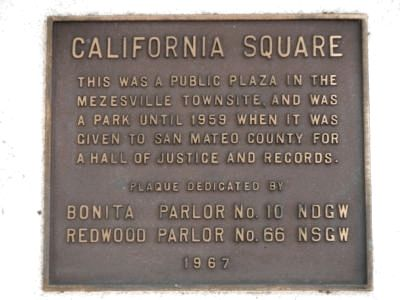 California Square Marker image. Click for full size.