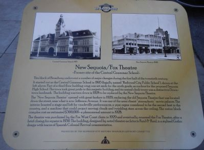 New Sequoia/Fox Theatre Marker image. Click for full size.
