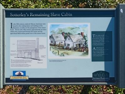 Sotterley's Remaining Slave Cabin Marker image. Click for full size.
