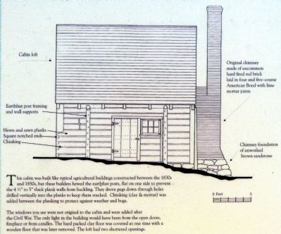 Architectural drawing of Sotterley Slave Cabin image. Click for full size.