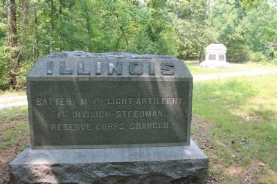 Illinois Battery M, 1st Light Artillery Marker image. Click for full size.