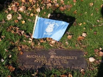 Pvt. Michael Dougherty Marker image. Click for full size.