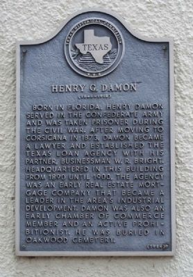 Henry G. Damon Marker image. Click for full size.