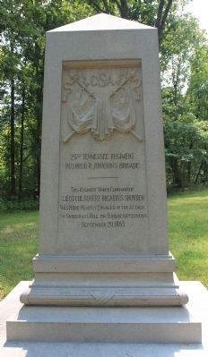 25th Tennessee Regiment Marker image. Click for full size.