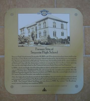 Former Site of Sequoia High School Marker image. Click for full size.