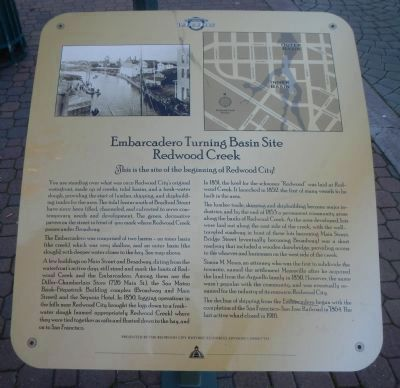 Embarcadero Turning Basin Site Marker image. Click for full size.