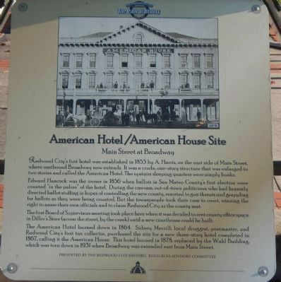 American Hotel/American House Site Marker image. Click for full size.