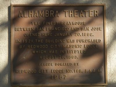 Alhambra Theater Marker image. Click for full size.